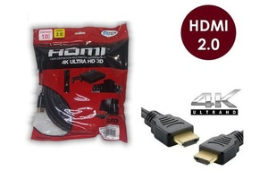 CABO HDMI 10 METROS 2.0 EMBORRACHADO PRETO ALL TECH