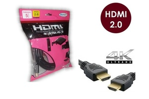 CABO HDMI 5 METROS 2.0 EMBORRACHADO PRETO ALL TECH