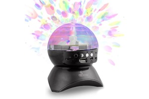 CAIXA DE SOM GLOBO BLUETOOTH LED DJ USB/FM/SD CS A24BT