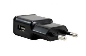 CARREGADOR USB DE VIAGEM 5V 2 AMP PRETO