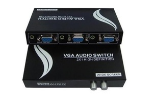 CHAVEADOR SWITCH VGA 2 IN X 1 OUT COM AUDIO MT152AV MIGTEC