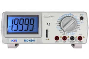 MULTIMETRO DIGITAL DE BANCADA MD 6601 ICEL