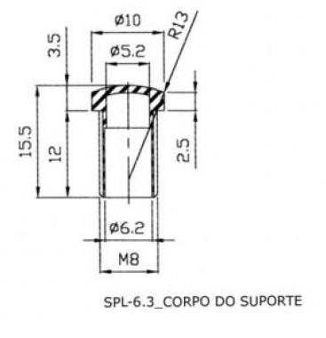 Suporte De Led 5mm Spl 6 3 Transparente C Rosca on vga wire diagram